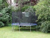 12-foot Ultrafit Trampoline with Ladder and Safety Net. £60 negotiable.