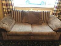Brown sofa and recliner seat