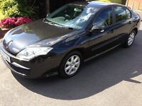 2009 Renault Laguna 2.0 dCi Expression Black 92k Miles Air-Con CD Alloys MOT HPi Clear £1799