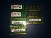 Laptop RAM Memory Modules Various