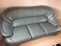 3 seater sofa and 2 chairs green. Good condition, excellent quality, very comfortable.