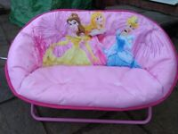 Girls Disney Princess Settee