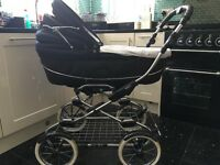 Bebecar Stylo Pram, midnight sparkle 3 in one system with carrycot , car seat , pushchair seat