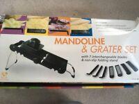 Kitchen mandoline and grater set