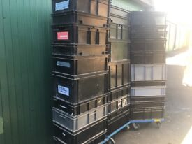 euro stacking heavy duty boxes x30
