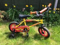 Boys silver fox bike