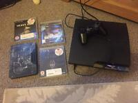 PS3 Slim 120gb Console Heavy Rain Beyond Two Souls Skyrim with Official Pad