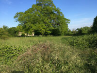 Building land - Walled garden in France with mature linden tree and building permission