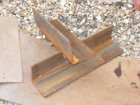 Mild steel angle iron 2 x 500mm lengths of 120 x 120 x 10 heavy gauge angle iron.
