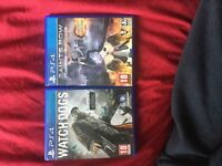 Watch Dogs and Saints Row 4 Ps4 (will swap)