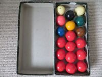 Snooker/billiard balls - table top size