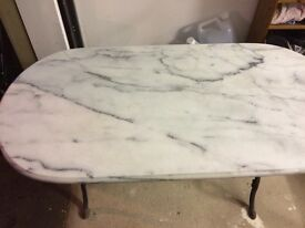 Solid marble console table, or occasional table