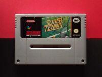 Super Tennis Super Nintendo SNES Super NES Vintage Retro Game video GAMEPO