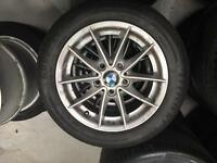 "GENUINE 16"" BMW ALLOYS AND TYRES"