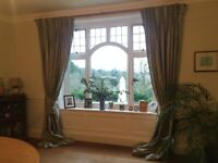Silk Curtains, 2 matching pairs available, excellent condition