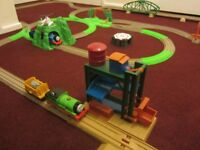 THOMAS THE TANK ENGINE & FRIENDS TRACKMASTER LARGE TRAIN SET UP. VERY GOOD CONDITION £50 OR OFFERS
