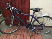 Raleigh Bicycles Town Bike with U lock and cover