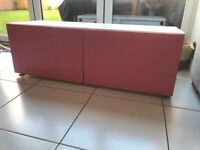 IKEA pink and white unit