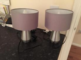 X2 Silver touch lamps