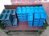 Joblot 71 Small MetaBin Stackable Storage Boxes Parts Bins For Nuts/Bolts/Screws In Shed/Garage