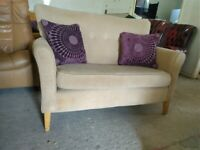 Shackletons small Fabric Sofa settee Delivery Poss