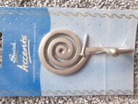 Swish Accents Curtain Tie Back Hook x 2 Brand New in Original Packaging