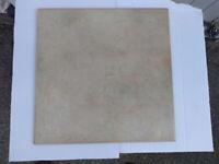 Box of 15 Ceramic Wall or Floor Tiles, Mottled Beige & Cream colour, 340mm x 340mm