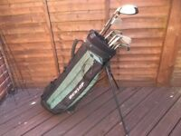 Golf clubs - Driver-Hybrid-Driving Iron-Irons (3-LW) Putter-Golf bag-Golf glove-Golf balls & Tees