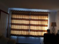 Fully lined ring top curtains with Tie backs