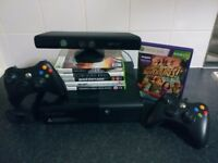 Microsoft Xbox 360 + 2 controllers + Kinect Sensor + 7 games CHEAP BUNDLE