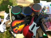 Ps3 Guotar hero drums and guitars
