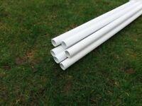 Plastic Plumbing Pipe, surplus 6 lengths, each 3 metres. Unused and perfect