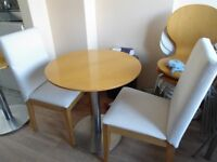 Small circular table and 2 chairs