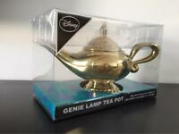 Disney Aladdin Genie lamp teapot, by Primark, golden, collectible.