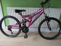 """GREAT GIRLS BIKE..""""SABRE ESCAPE SPORTZ""""..DUEL SUSPENSION..FULLY WORKING,READY TO RIDE AWAY TODAY."""