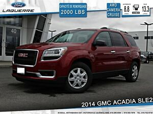 2014 GMC Acadia **SLE2* 7 PASSAGERS* AWD*CAMERA*A/C**