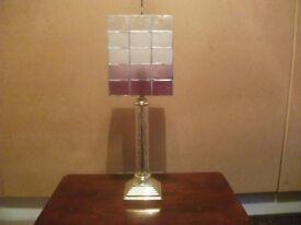 Crystal Style Lamp and Shade