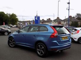 VOLVO XC60 2.0 D4 R-DESIGN NAV 5dr AUTO (180) ** Winter Pack + Sat Nav ** (blue) 2014