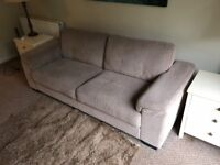 House clearance - 3 seater sofa/furniture/3 beds/canvases/pictures/mirror/ETC