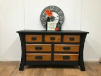 **SALE **Unusual Solid Wood and Black Storage Unit/Sideboard