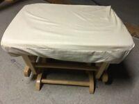 Glider rocking chair and glider footstall