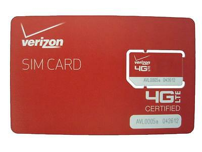 NEW Genuine Verizon Standard SIM LTE Card for Verizon LTE Phones (NFC Enabled)