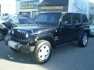 2012 Jeep WRANGLER UNLIMITED SAHARA! LEATHER! TWO TOPS! LOADED!