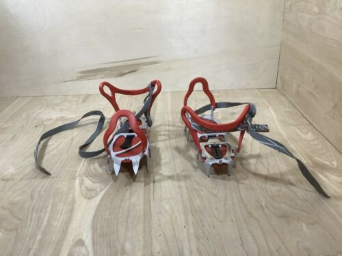Camp Stalker Semi-Automatic 12 Point Crampons Italy 2-12 Vibram Excellent