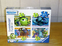 New & Sealed Ravensburger Monsters University Puzzles 4-in-1 Box
