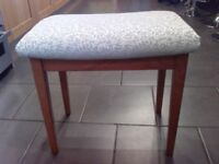 vintage retro piano stool or dressing table stool, hardwood frame, courier poss*