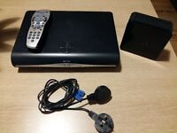 Sky +HD box with remote and router