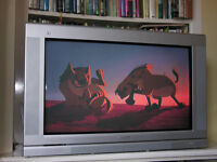 """FREE 34"""" Philips CRT TV with Pixel Plus and Dolby Digital audio, plus subwoofer"""