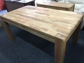 New / Ex Display Cargo Portsmore Dining Table Solid Oak