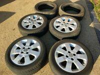 "Vauxhall Corsa 15"" Alloys wheels and Winter Tyres (x6)"